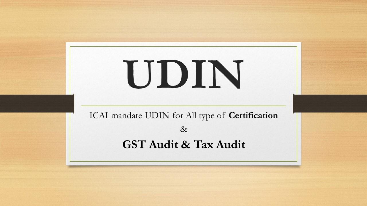 UDIN (Unique Document Identification Number)