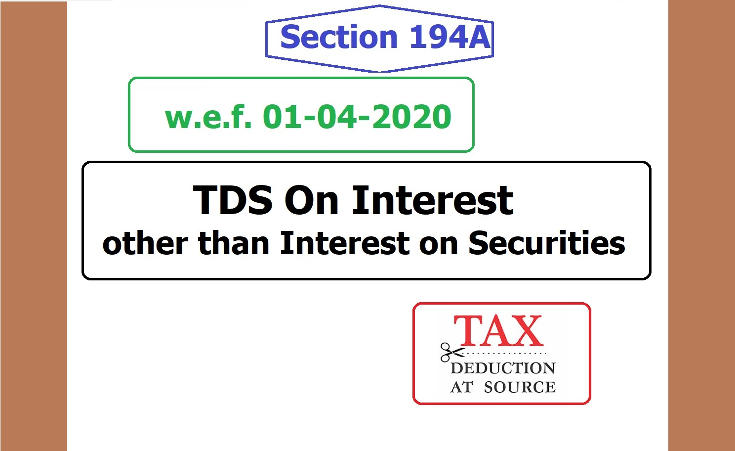 "Section: -194-A (TDS on Interest other than ""Interest on securities"")"