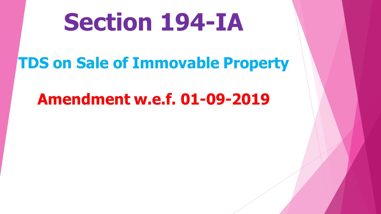 Section 194-IA TDS on immovable property