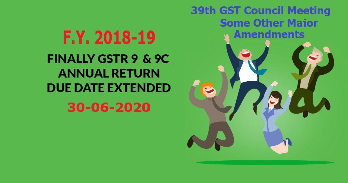 GST Major Amendments in 39th Council Meeting