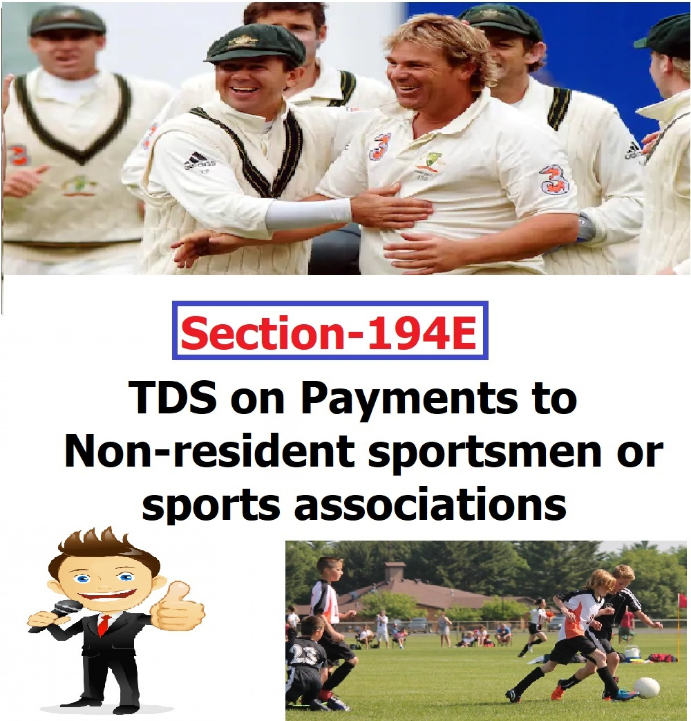 TDS on Payments to non-resident sportsmen or sports associations