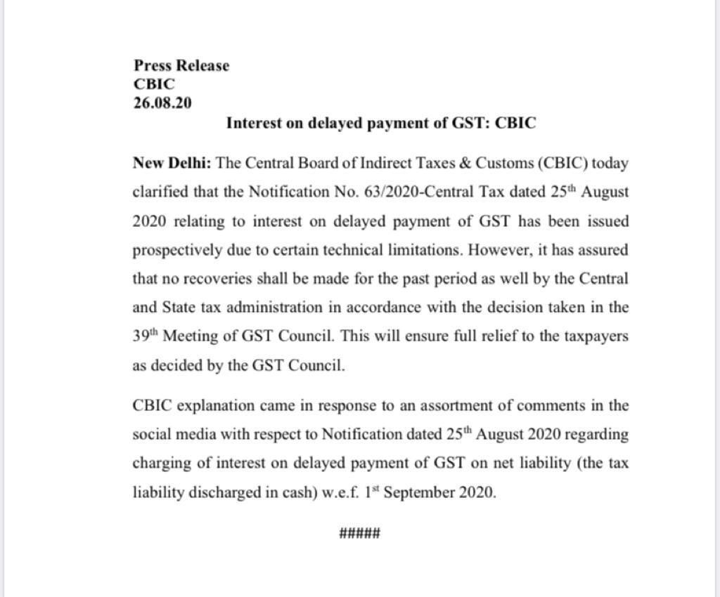 Interest on GST